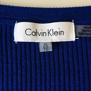Calvin Klein Royal Blue Knit Top | Size XL